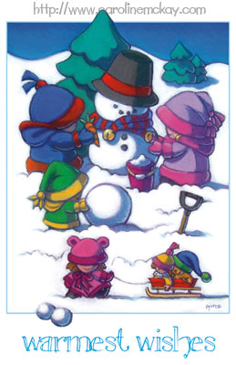 Snow Kids Holiday Card